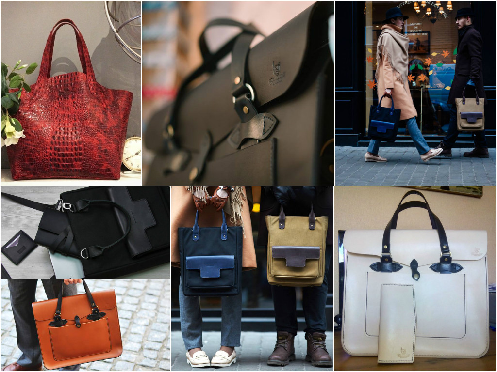 Tote leather bags